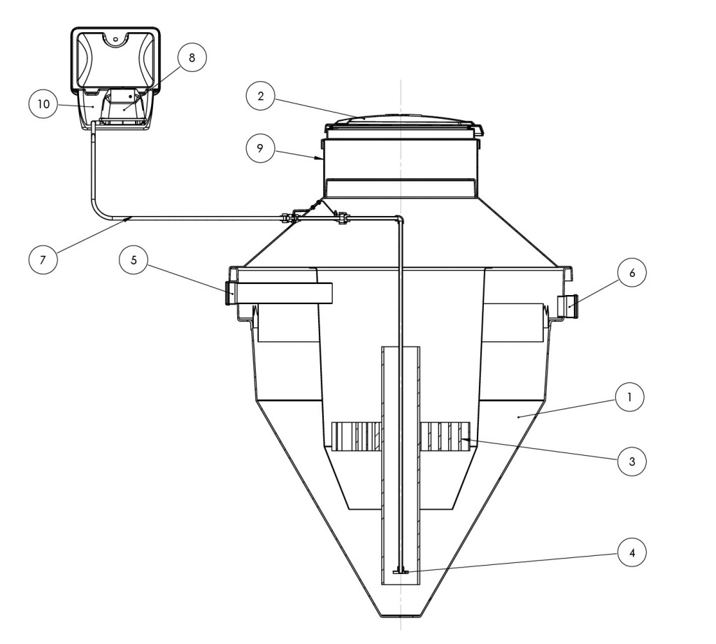 1 pav. NV-1a, NV-2a, NV-3a, NV-4a tipo nuotekų valymo įrenginiai